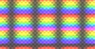Vektor Seamles-Regenbogen-Muster, glühende Lichter lizenzfreie abbildung