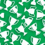 Vektor-Sieger-Cup-nahtloses Muster Stockbild