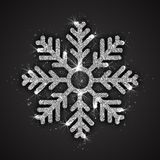 Vektor-silberne funkelnde Schneeflocke Stockfotos