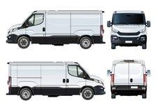 Vektor skåpbil mall som isoleras på vit royaltyfri illustrationer