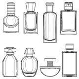 Vektor-Skizzen-Parfümflaschen lizenzfreie abbildung