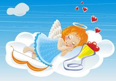 Vektor small angel Royalty Free Stock Image