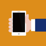 Vektor Smartphone i hand Royaltyfria Foton