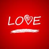 vektor Smsa på en röd bakgrund på valentindag Arkivbild