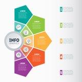 Vektor som är infographic av teknologi- eller utbildningsprocess Affär Royaltyfri Bild