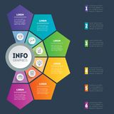 Vektor som är infographic av teknologi- eller utbildningsprocess Del av t Royaltyfria Foton