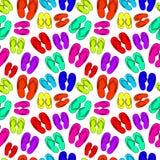 Vektor som är sömlös av neon eller syrliga Flip Flops vektor illustrationer