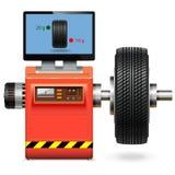 Vektor som balanserar hjulservice vektor illustrationer
