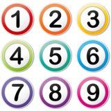 Vektor som numrerar symboler Arkivbild