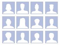 Vektor som ställs in med avatarsymboler royaltyfri illustrationer