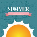Vektor-Sommerschlussverkaufbroschüren-/-hintergrunddesign Stockfotos