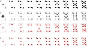 Vektor-Spielkarte Stockfotos