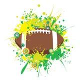 Vektor Splattered amerikanischen Fußball Lizenzfreies Stockbild