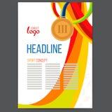 Vektor-Sport spricht Bronzemedaille am Hintergrund zu Stockfoto