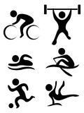 Vektor sports Symbole Lizenzfreies Stockbild