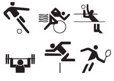 Vektor sports Symbole Lizenzfreie Stockbilder