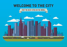 Vektor-Stadt-Skyline Lizenzfreie Stockfotografie