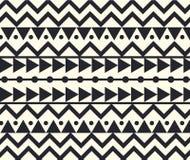 Vektor-Stammes- ethnische Muster-Schwarzweiss-Illustration Lizenzfreie Stockbilder