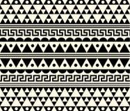 Vektor-Stammes- ethnischer abstrakter Muster-Illustrations-Hintergrund Stockbilder