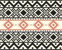 Vektor-Stammes- ethnischer abstrakter Muster-Illustrations-Hintergrund Lizenzfreie Stockfotografie