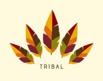 Vektor-Stammes- Federn Logo Illustration - Herbst Stockbild