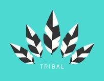 Vektor-Stammes- Federn Logo Illustration - Winter Stockbilder