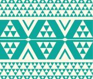 Vektor-Stammes- Knickente und weiße ethnische Muster-Illustration Stockfoto