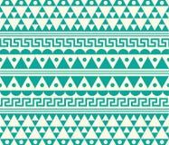 Vektor-Stammes- Knickente und weiße ethnische Muster-Illustration Lizenzfreie Stockfotografie