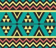 Vektor-Stammes- mexikanische ethnische Muster-Hintergrund-Illustration Lizenzfreie Stockbilder