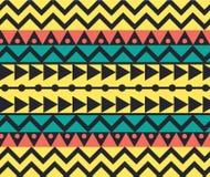 Vektor-Stammes- mexikanische ethnische Muster-Hintergrund-Illustration Stockbilder