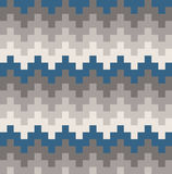 Vektor-Stammes- Teal Chevron Wave Ethnic Pattern-Illustration Lizenzfreie Stockfotografie