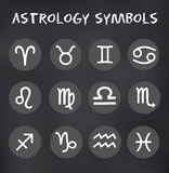 Vektor-Sternzeichen-runde Ikonen stellten Illustration ein Lizenzfreie Stockfotografie