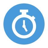 Vektor-Stoppuhr in der Kreis-Ikone Lizenzfreie Abbildung