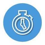 Vektor-Stoppuhr in der Kreis-Linie Ikone Vektor Abbildung
