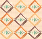 Vektor stucken aztec sömlös bakgrund Royaltyfri Fotografi
