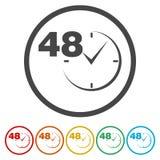 Vektor 48 Stunden stock abbildung