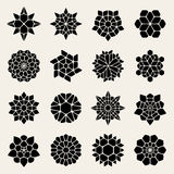Vektor svartvita Mandala Lace Ornaments Collection Royaltyfria Foton