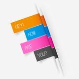 Vektor Tab Banner Elements Fotografering för Bildbyråer