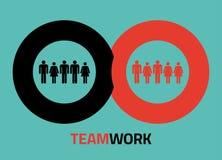 Vektor teamork Ikonen für infographics Stockbild