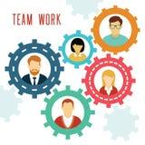 Vektor-Teamwork übersetzt Konzept Stockfotografie