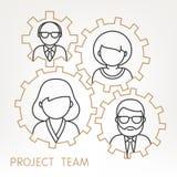 Vektor-Teamwork übersetzt Konzept Lizenzfreies Stockbild