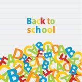 Vektor tillbaka till skolabakgrund Pappers- kvalitetssammansättning Arkivfoton