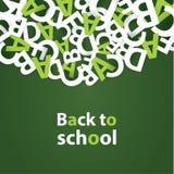 Vektor tillbaka till skolabakgrund Pappers- kvalitetssammansättning Royaltyfria Foton