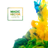 Vektor-Tinte, die in Wasser wirbelt Stockfotos