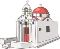 Vektor Traditionelle griechische Kirche Stockbilder