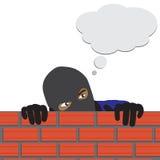 Vektor - tragender Kopfschutz des gefährlichen Gangsters Stockfoto