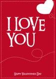 Vektor-typografisches Liebes-Plakat stock abbildung