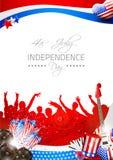 Vektor-Unabhängigkeitstag-Hintergrund mit Thema von M Stockbild
