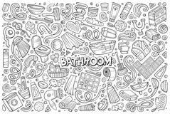 Vektor und von Badezimmergegenständen Stockbild