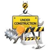 Vektor under konstruktionsbegrepp med ramen Royaltyfri Foto